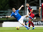 St Johnstone v St Mirren……29.08.20   McDiarmid Park  SPFL<br />David Wotherspoon is sent flying by Ilkay Durmus<br />Picture by Graeme Hart.<br />Copyright Perthshire Picture Agency<br />Tel: 01738 623350  Mobile: 07990 594431