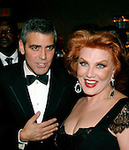 George Clooney and Georgette Mosbacher at Newsweek party at the Washington Hilton Hotel in Washington, D.C. prior to the annual White House Correspondents Association (WHCA) dinner on April 29, 2006..Credit: Ron Sachs / CNP