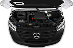 Car Stock 2019 Mercedes Benz Sprinter - 2 Door Cargo Van Engine  high angle detail view