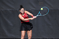 RALEIGH, NC - JANUARY 25: Jasmine Asghar of the University of Oklahoma during a game between Oklahoma and Florida at J.W. Isenhour Tennis Center on January 25, 2020 in Raleigh, North Carolina.