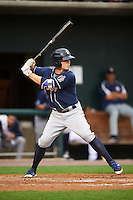 New Hampshire Fisher Cats shortstop Jon Berti (5) at bat during a game against the Harrisburg Senators on June 2, 2016 at FNB Field in Harrisburg, Pennsylvania.  New Hampshire defeated Harrisburg 2-1.  (Mike Janes/Four Seam Images)