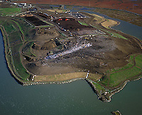 aerial photography landfill Richmond, Contra Costa county California