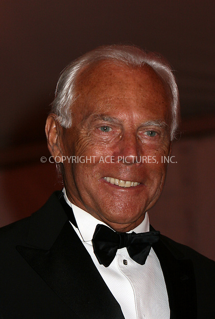 WWW.ACEPIXS.COM . . . . .....May 5, 2008. New York City.....Giorgio Armani leaving the 'Superheroes: Fashion and Fantasy' Costume Institute Gala at The Metropolitan Museum of Art...  ....Please byline: NANCY RIVERA - ACEPIXS.COM.. *** ***..Ace Pictures, Inc:  ..Philip Vaughan (646) 769 0430..e-mail: info@acepixs.com..web: http://www.acepixs.com