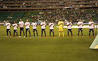 PALMIRA-COLOMBIA, 14-08-2021: Jugadores deMillonarios F. C., durante partido entre Deportivo Cali y Millonarios F. C. de la fecha 5 por La Liga BetPlay DIMAYOR II 2021 jugado en el estadio Deportivo Cali (Palmaseca) de la ciudad de Palmira. / Players of Millonarios F. C. during a match between Deportivo Cali and Millonarios F. C. of the 5th date for the BetPlay DIMAYOR II 2021 League played at the Deportivo Cali (Palmaseca) stadium in Palmira city. / Photo: VizzorImage / Luis Ramirez / Staff.