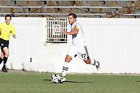 RICHMOND, VA - SEPTEMBER 30: Ben Speas #17 of North Carolina FC runs with the ball during a game between North Carolina FC and New York Red Bulls II at City Stadium on September 30, 2020 in Richmond, Virginia.