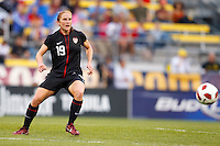 14 MAY 2011: USA Women's National Team defender Rachel Buehler (19) passes the ball during the International Friendly soccer match between Japan WNT vs USA WNT at Crew Stadium in Columbus, Ohio.