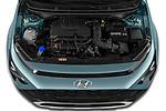 Car Stock 2021 Hyundai Bayon Techno 5 Door SUV Engine  high angle detail view