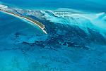 Aerial of Bimini Islands, Great Bahamas Bank, Bahamas