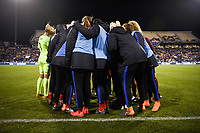 Columbus, Ohio - Thursday March 01, 2018: USWNT during a 2018 SheBelieves Cup match between the women's national teams of the United States (USA) and Germany (GER) at MAPFRE Stadium.