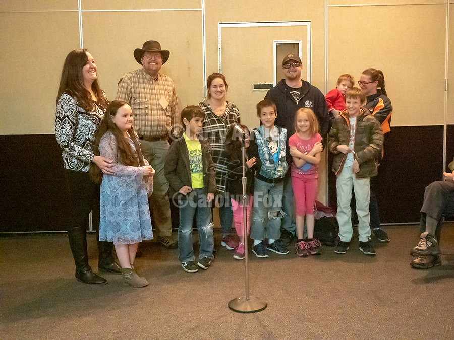 Speakers at Shooting the West XXX including Mark Volmer & Jim Eaglesmith, with the kids from Grass Valley Elementary School and their photos<br /> .<br /> .<br /> #ShootingTheWest XXX, #WinnemuccaNevada