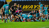 21st August 2020; Ricoh Arena, Coventry, West Midlands, England; English Gallagher Premiership Rugby, Wasps versus Worcester Warriors; Wasps scores a try during the Gallagher Premiership Rugby match between Wasps and Worcester Warriors at Ricoh Arena on August 21st 2020 in Coventry England