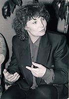 Montreal (qc) CANADA - file Photo - 1990 - <br /> <br /> <br /> - Diane Kurys, film maker exclusive interview photo -