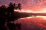 Mexico, Puerto Vallarta, sunset, Pacific Ocean, Mexico's west coast, palm trees,