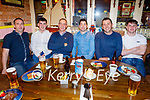 Mike Sullivan, Michael Gerard and Paul Scannell, Tom McGoldrick, Lee Roche and Adam Guirey from Brosna enjoying the evening in the Mall Tavern on Friday.