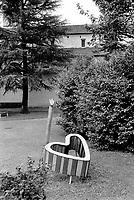 Switzerland. Canton Ticino. Locarno. A heart in a public park. 20.10.13  © 2013 Didier Ruef