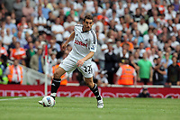 Pictured: Angel Rangel of Swansea City in action Saturday 10 September 2011<br /> Re: Premiership Arsenal v Swansea City FC at the Emirates Stadium, London.