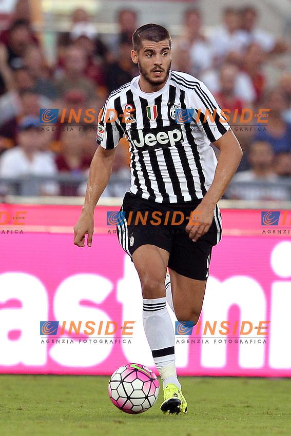Alvaro Morata Juventus.<br /> Roma 30-08-2015 Stadio Olimpico, Football Calcio 2015/2016 Serie A Roma - Juventus  Foto Antonietta Baldassarre / Insidefoto