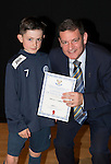 St Johnstone FC Academy Awards Night...06.04.15  Perth Concert Hall<br /> Chairman Steve Brown presents a certificate to Mitchell Findlay<br /> Picture by Graeme Hart.<br /> Copyright Perthshire Picture Agency<br /> Tel: 01738 623350  Mobile: 07990 594431