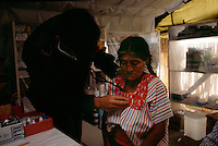 Mexican military set up clinics to provide health care to Indians in Chiapas.  Political unrest in the region has made the military unpopular. Giving food and medical care is an attempt to develop trust among the people.