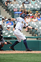 Trenton Thunder outfielder Ben Gamel (8) during game against the Binghamton Mets at ARM & HAMMER Park on July 27, 2014 in Trenton, NJ.  Trenton defeated Binghamton 7-3.  (Tomasso DeRosa/Four Seam Images)