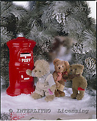 Interlitho, CHRISTMAS ANIMALS, photos+++++,3 teddies,letterbox,KL2974,#xa#