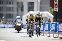 Maarten Tjallingii (NLD/LottoNL-Jumbo) taking his turn at the front<br /> <br /> Elite Men's Team Time Trial<br /> UCI Road World Championships Richmond 2015 / USA
