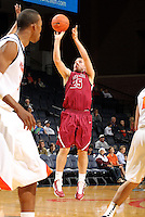 Nov 6, 2010; Charlottesville, VA, USA; Roanoke College g Matt Crizer (25) shoots the ball Saturday afternoon in exhibition action at John Paul Jones Arena. The Virginia men's basketball team recorded an 82-50 victory over Roanoke College.