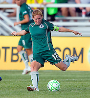 Saint Louis Athletica midfielder Lori Chalupny (17) during a WPS match at Anheuser-Busch Soccer Park, in St. Louis, MO, July 26, 2009.  The match ended in a 1-1 tie.