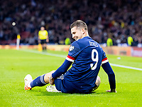 4th September 2021; Hampden Park, Glasgow, Scotland: FIFA World Cup 2022 qualification football, Scotland versus Moldova: Lyndon Dykes of Scotland celebrates after scoring the opening goal in minute 14