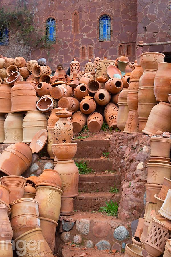 Roadside Pot Seller on the way to Tizi'n'Tichka, High Atlas, Morocco