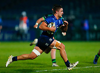 2nd January 2021; RDS Arena, Dublin, Leinster, Ireland; Guinness Pro 14 Rugby, Leinster versus Connacht; Scott Penny of Leinster on his way to scoring his sides opening try for 5 - 12