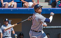 16 March 2014: Detroit Tigers designated hitter Victor Martinez in action during a Spring Training Game against the Washington Nationals at Space Coast Stadium in Viera, Florida. The Tigers edged out the Nationals 2-1 in Grapefruit League play. Mandatory Credit: Ed Wolfstein Photo *** RAW (NEF) Image File Available ***