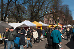 Kaunas Lithuania weekend market daily life people out shopping Baltic State 2017 2010s,