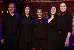 """Jeffrey Klitz,  Joanna Gleason, Michael Protacio, Christine Cornell and Christiana Cole performing a press preview of  """"Out of the Eclipse""""  at Feinsteins/54 Below on February 21, 2019 in New York City."""
