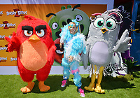 """LOS ANGELES, USA. August 10, 2019: JoJo Siwa, Red & Silver at the premiere of """"The Angry Birds Movie 2"""" at the Regency Village Theatre.<br /> Picture: Paul Smith/Featureflash"""