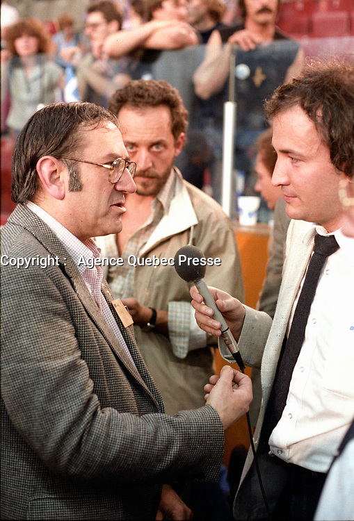 Le camp du OUI le soir de la defaite au referendum, le 20 mai 1980 <br /> PHOTO : Agence Quebec Presse