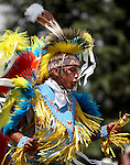Native American Dancer's from across the western states perform each year in the Indian Village for attendees of the annual Cheyenne Frontier Days Rodeo.