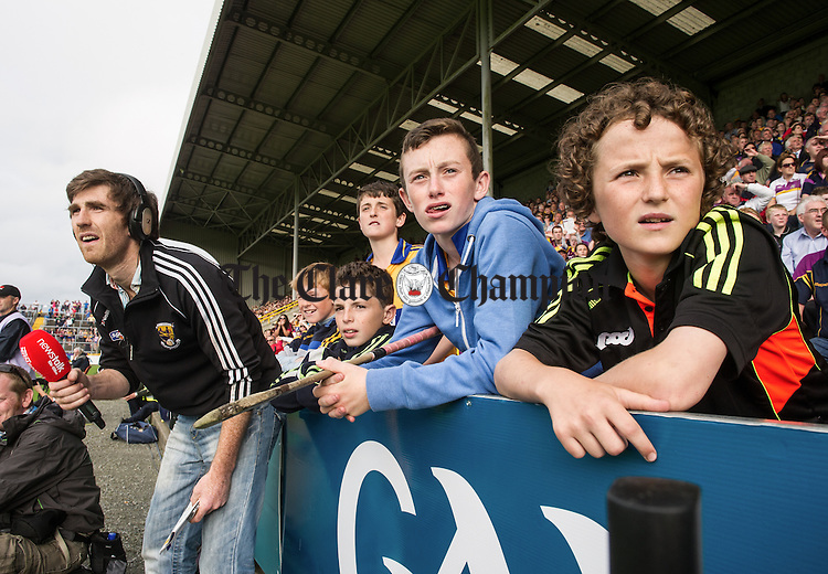 Tension mounts late on  during their All-Ireland qualifier replay extra time at Wexford Park. Photograph by John Kelly.