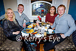Fiona Kelly, Dan Goggin, Courtney Wheatcroft and Dylan Goggin enjoying the evening in the Imperial Hotel on Friday.