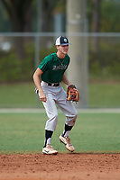 Andrew Jones (22) during the WWBA World Championship at the Roger Dean Complex on October 11, 2019 in Jupiter, Florida.  Andrew Jones attends Muscle Shoals High School in Muscle Shoals, AL and is committed to South Carolina Aiken.  (Mike Janes/Four Seam Images)