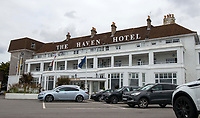 BNPS.co.uk (01202 558833)<br /> Pic: BNPS<br /> <br /> Pictured: The Haven Hotel. <br /> <br /> Over 6,200 letters of objection have been lodged against controversial plans to replace a historic hotel with a 'soulless' block of flats at a millionaire's playground.<br /> <br /> The well-heeled residents of Sandbanks are up in arms about the £250million development which would see the Haven Hotel at the entrance to Poole Harbour in Dorset bulldozed.<br /> <br /> The 141-year-old building is where engineer Guglielmo Marconi established the world's first wireless communications. Under the plans, it would be replaced with a six-storey block of 119 luxury apartments.