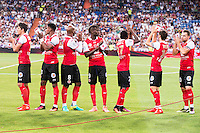 Stade de Reims's players during the XXXVII Santiago Bernabeu Trophy in Madrid. August 16, Spain. 2016. (ALTERPHOTOS/BorjaB.Hojas) /NORTEPHOTO