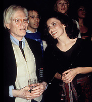 Andy Warhol & Margaret Trudeau; Studio 54-1978 Photo by Adam Scull-PHOTOlink.net
