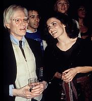 Andy Warhol & Margaret Trudeau; Studio 54-1978 Photo by Adam Scull-PHOTOlink.net