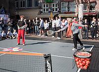 2-4-09, Alkmaar, Opening REAAL straattennis, Door Erica Terpstra