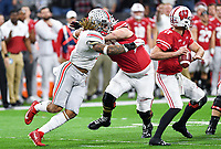 ndianapolis, IN - DEC 7, 2019: Ohio State Buckeyes defensive end Chase Young (2) in pursuit during Big Ten Championship game between Wisconsin and Ohio State at Lucas Oil Stadium in Indianapolis, IN. Ohio State came back from a 21-7 deficit at halftime to beat Wisconsin 34-21 to win its third straight Big Ten Championship. (Photo by Phillip Peters/Media Images International)