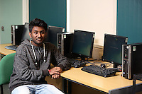 Pictured: IT student Raj. Monday 22 September 2014<br />