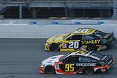 #95: Christopher Bell, Leavine Family Racing, Toyota Camry Procore #20: Erik Jones, Joe Gibbs Racing, Toyota Camry STANLEY