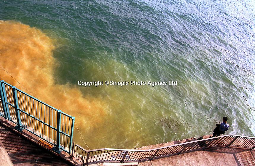 Sewage waste in Hong Kong.