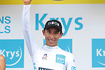 Egan Bernal (COL) Team Ineos takes over the young riders White Jersey at the end of Stage 10 of the 2019 Tour de France running 217.5km from Saint-Flour to Albi, France. 15th July 2019.<br /> Picture: Colin Flockton | Cyclefile<br /> All photos usage must carry mandatory copyright credit (© Cyclefile | Colin Flockton)